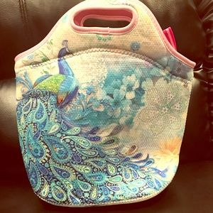Peacock lunch bag
